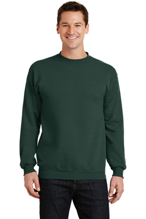 Dark Green Port & Company - Core Fleece Crewneck Sweatshirt.