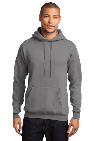 Medium Grey Port & Company - Core Fleece Pullover Hooded Sweatshirt.