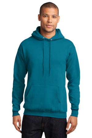 Teal Port & Company - Core Fleece Pullover Hooded Sweatshirt.