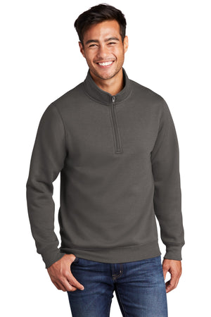 Charcoal Port & Company Core Fleece 1/4-Zip Pullover Sweatshirt