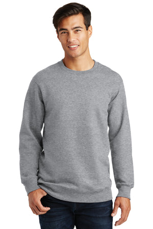 Athletic Heather Port & Company Fan Favorite Fleece Crewneck Sweatshirt.