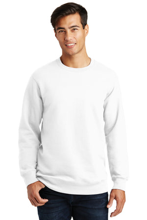 White Port & Company Fan Favorite Fleece Crewneck Sweatshirt.
