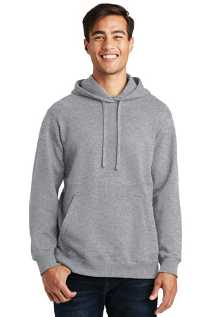 Athletic Heather Port & Company Fan Favorite Fleece Pullover Hooded Sweatshirt.