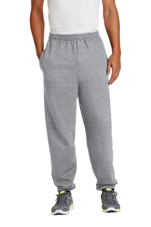 Athletic Heather Port & Company - Essential Fleece Sweatpant with Pockets.