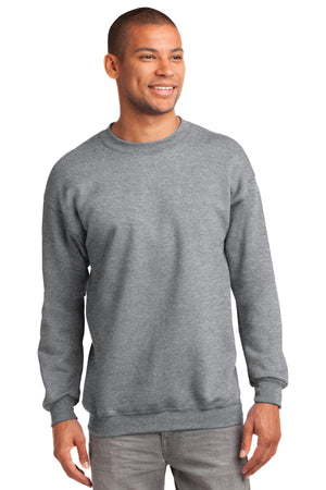 Athletic Heather Port & Company Tall Essential Fleece Crewneck Sweatshirt.