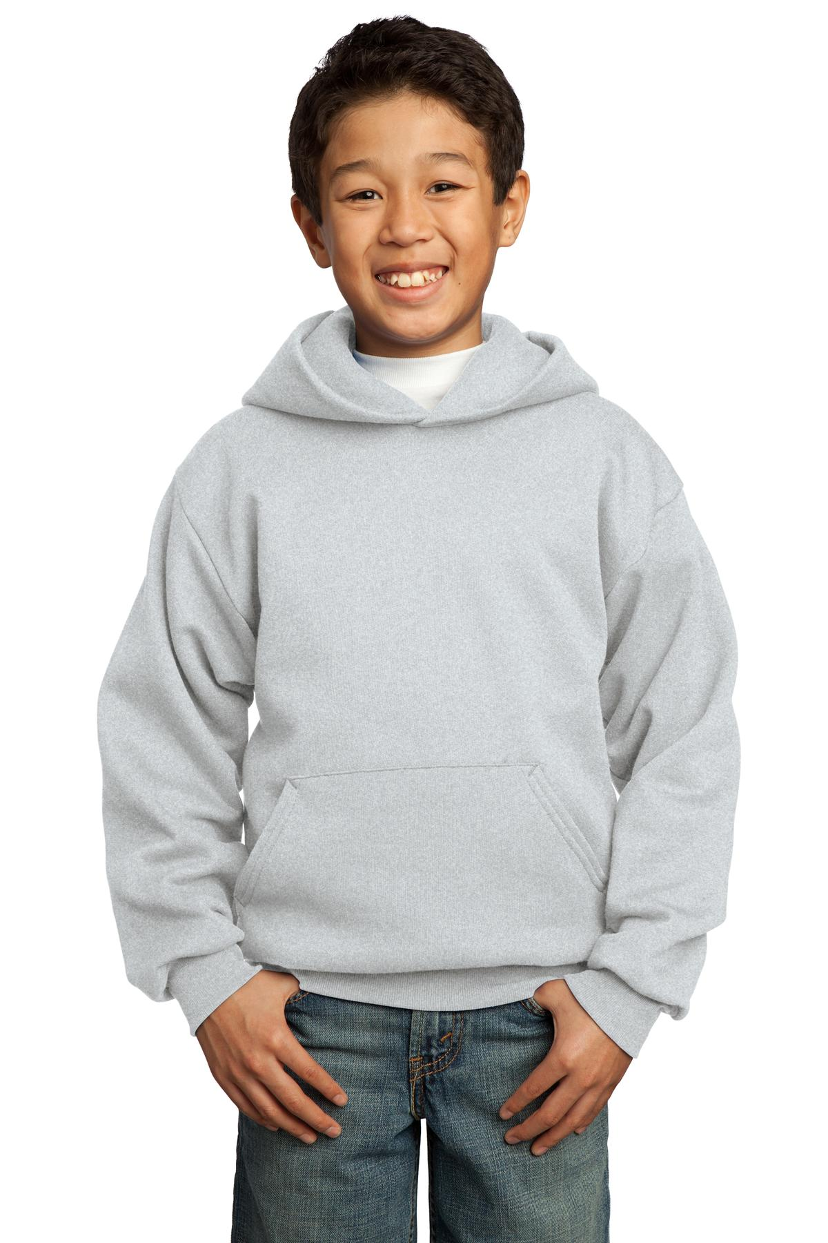Ash Port & Company - Youth Core Fleece Pullover Hooded Sweatshirt.