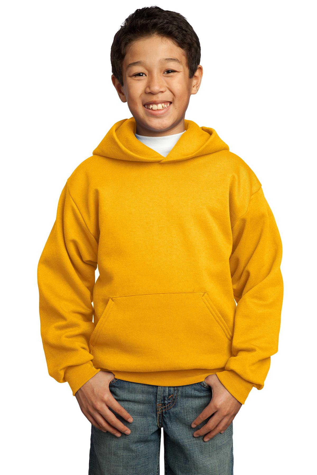 Gold Port & Company - Youth Core Fleece Pullover Hooded Sweatshirt.