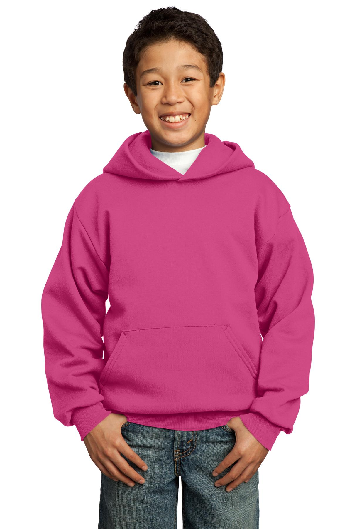 Sangria Port & Company - Youth Core Fleece Pullover Hooded Sweatshirt.