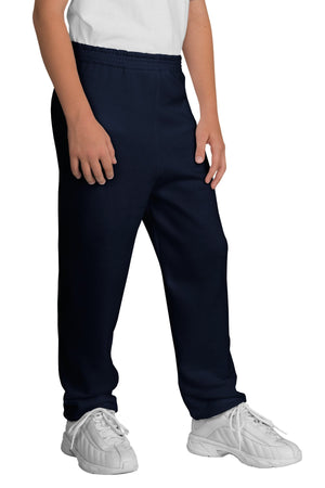 Navy Port & Company - Youth Core Fleece Sweatpant.