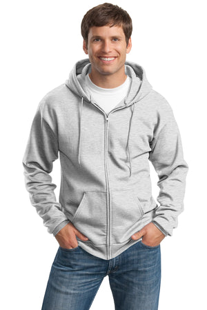 Ash Port & Company Tall Essential Fleece Full-Zip Hooded Sweatshirt.