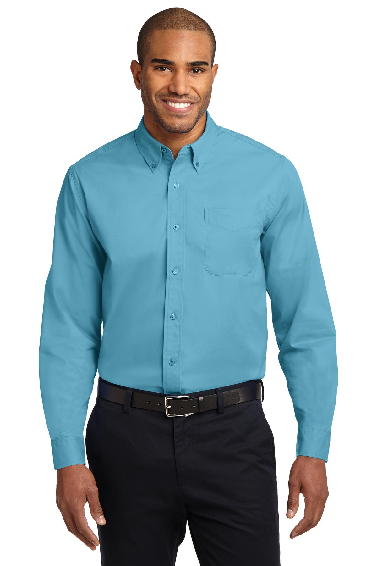 Black Port Authority Tall Silk Touch Polo.