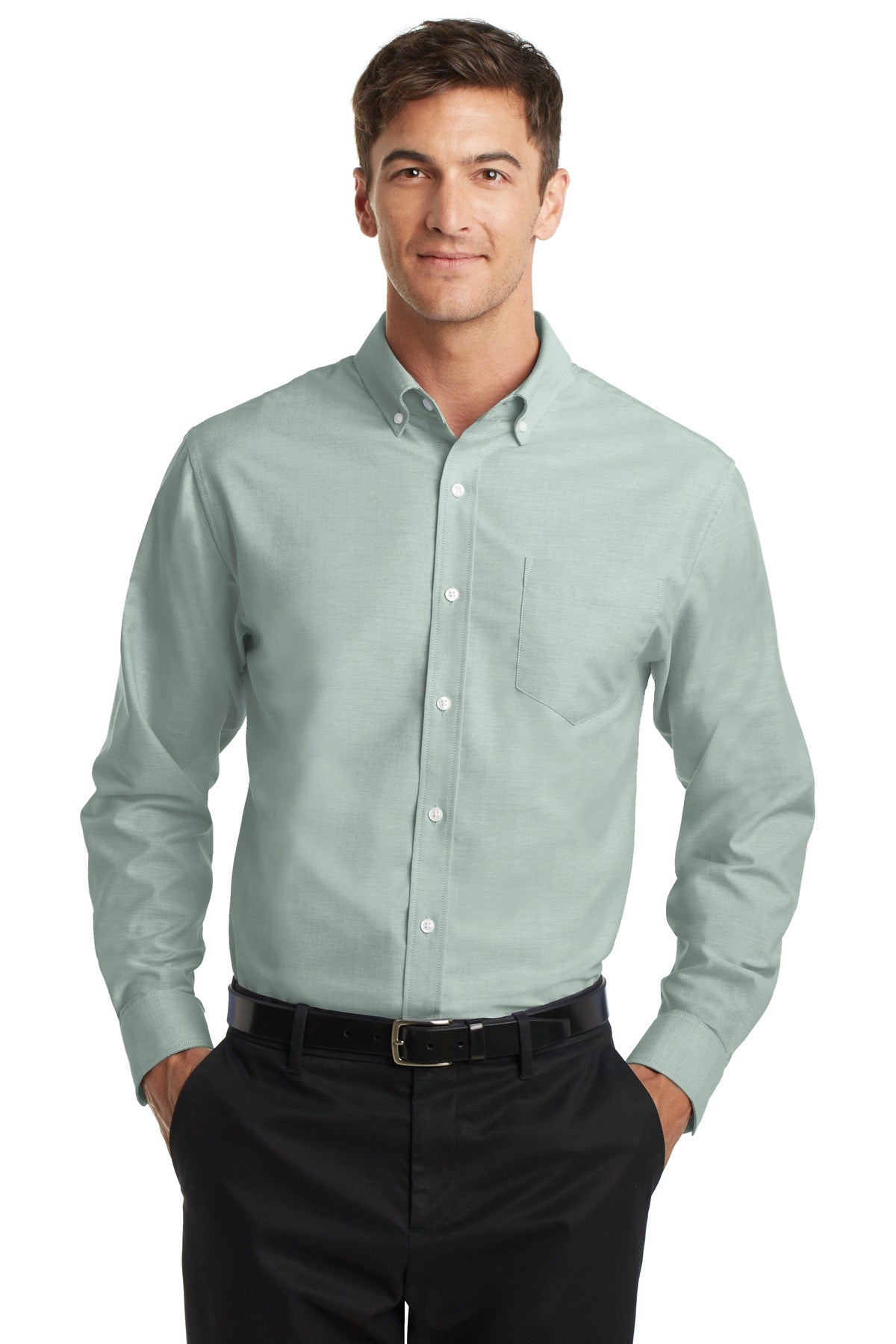 Steel Grey Port Authority Tall Silk Touch Polo.