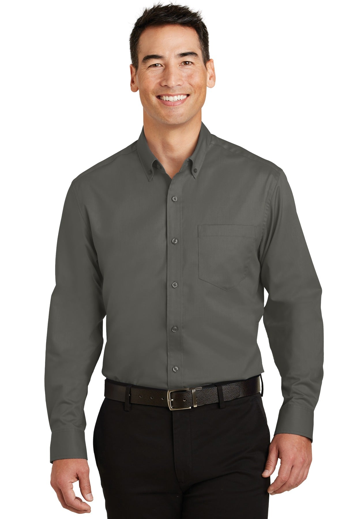 Red Port Authority Tall Silk Touch Polo with Pocket.