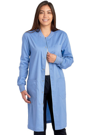 "Unisex 40"" Snap Front Lab Coat"