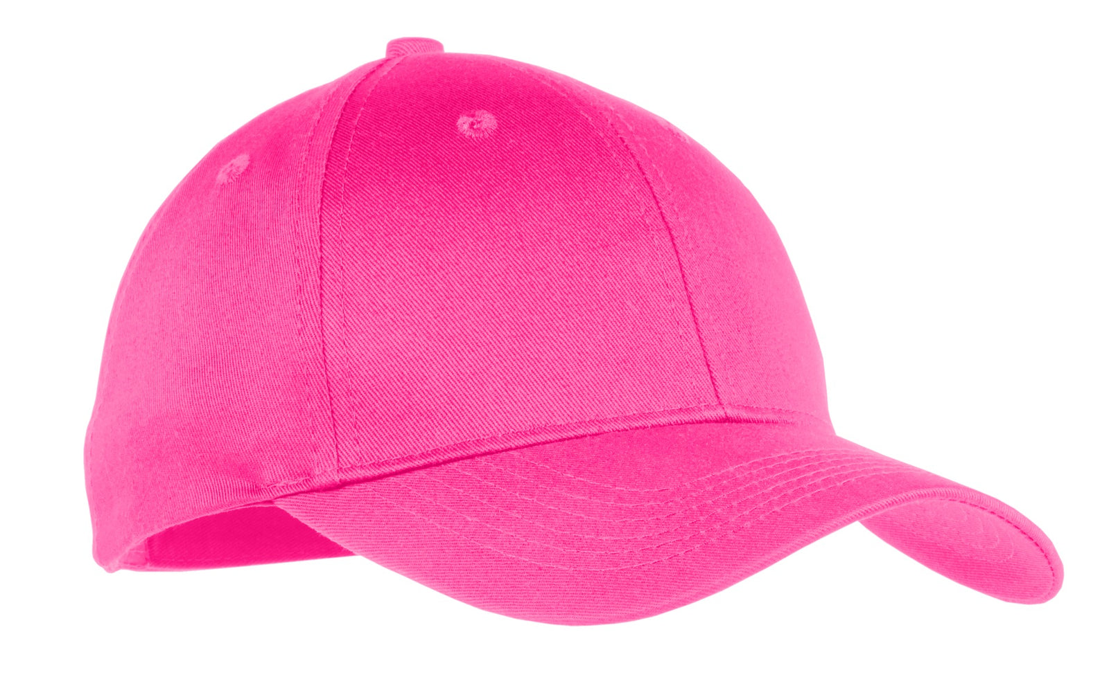 Neon Pink Port & Company Youth Six-Panel Twill Cap