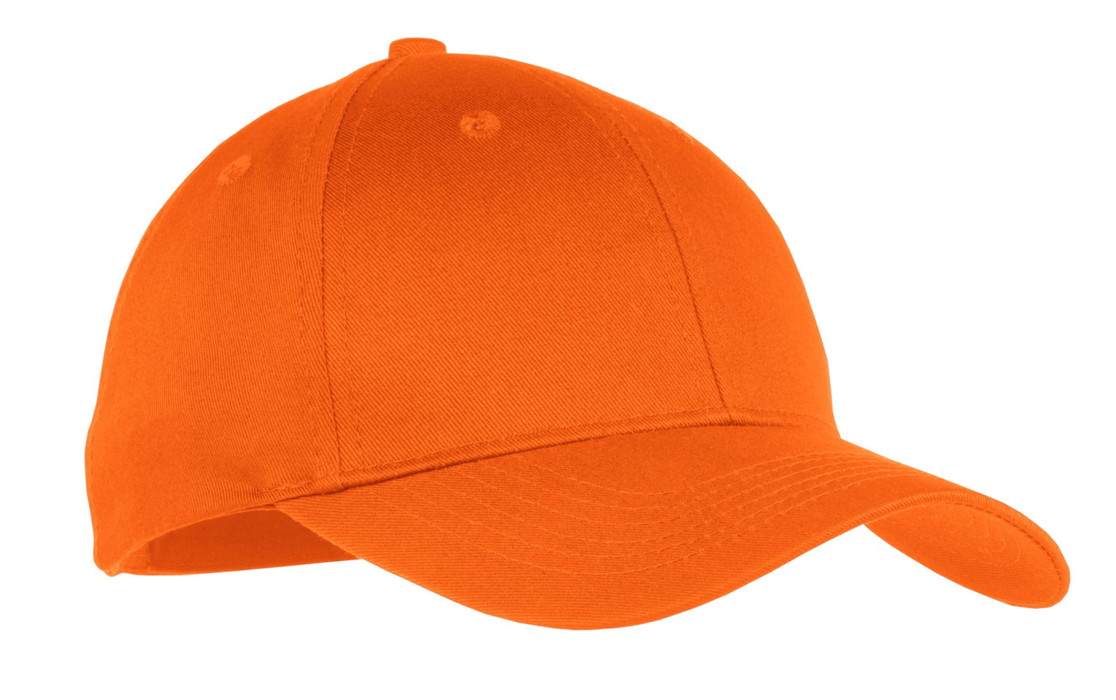 Orange Port & Company Youth Six-Panel Twill Cap