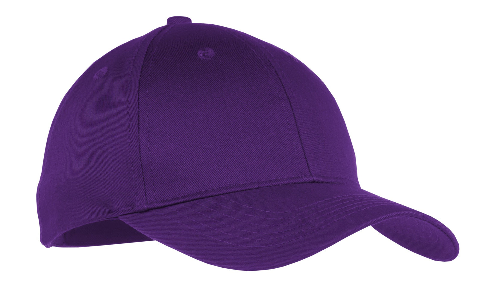 Purple Port & Company Youth Six-Panel Twill Cap