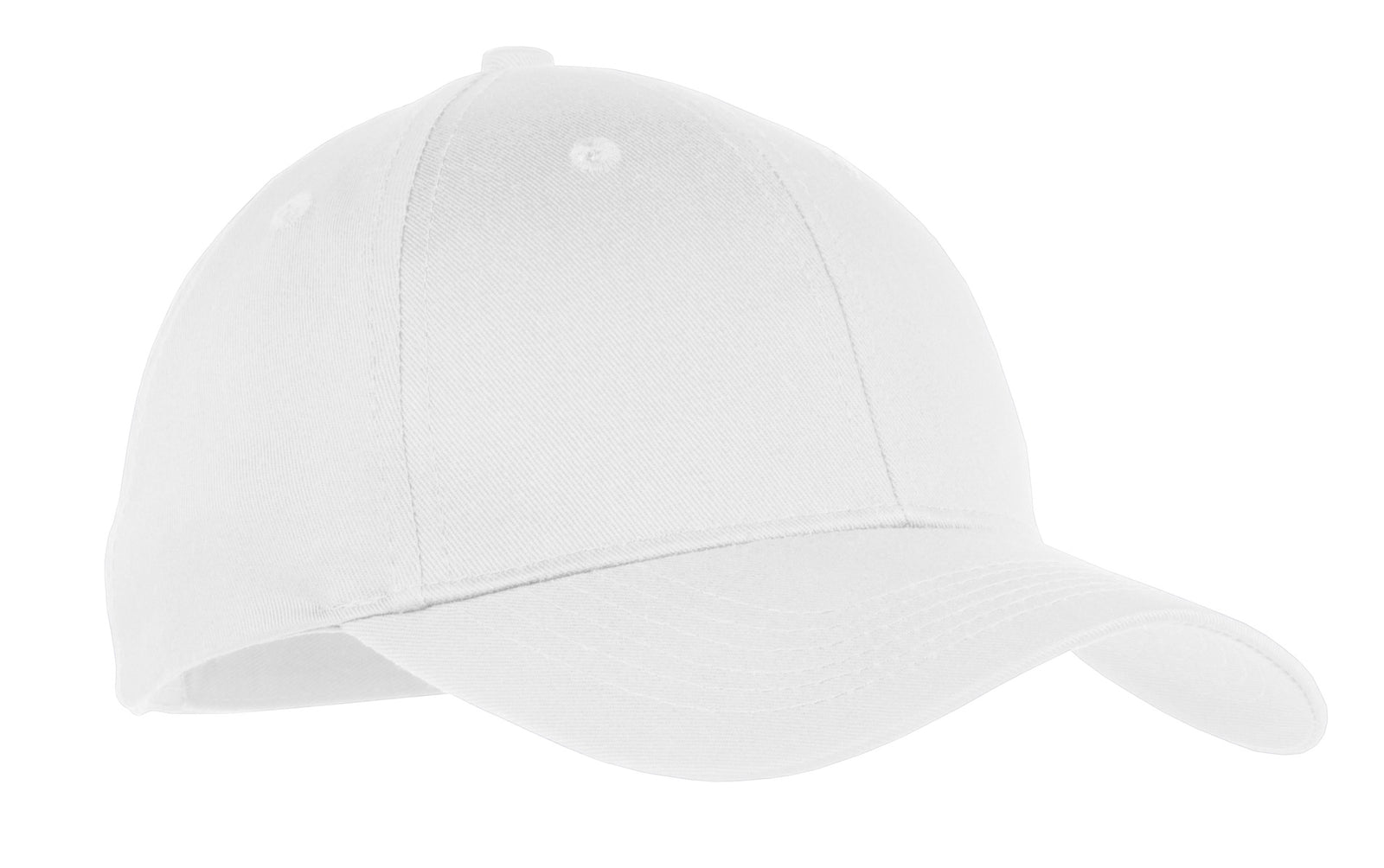 White Port & Company Youth Six-Panel Twill Cap