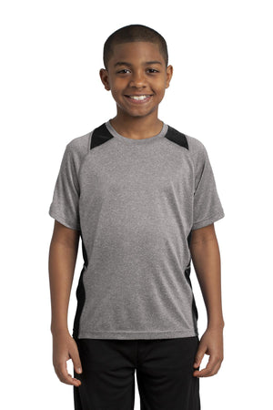 Sport-Tek Youth Heather Colorblock Contender T-Shirt