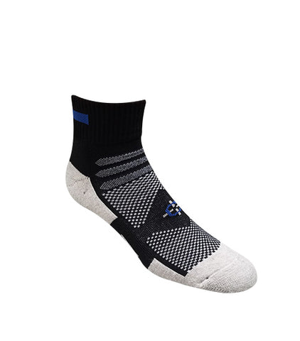 Blue Line Quarter Sock First Responder Socks-Covert Threads- Military Socks For Every Clime & Place