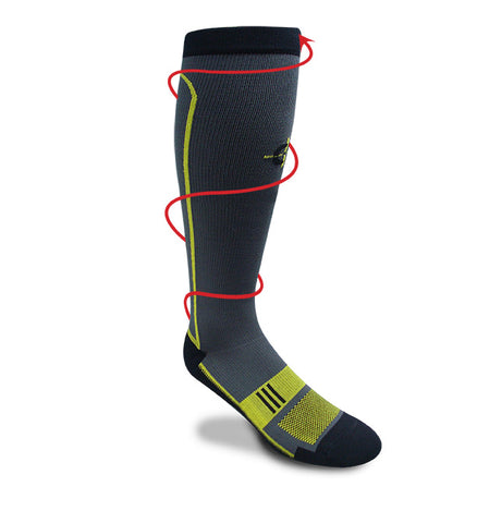 Endurance Graduated Compression Sock Physical Training/Running Sock Covert Threads Military Socks For Every Clime & Place