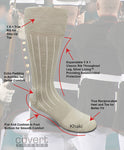 Military Cotton/Nylon Dress Sock-Covert Threads-A Military Sock For Every Clime & Place
