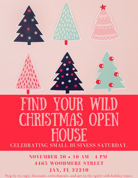 Find Your Wild Christmas Open House