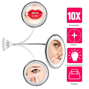 10x Magnifying Led Lighted Makeup Mirror Optimumtrends