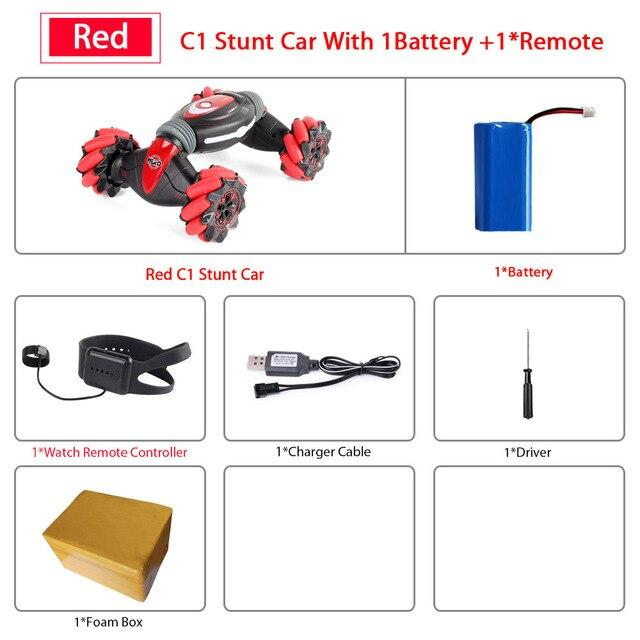 Gesture Controlled Smart Car Optimumtrends RED with 1 remote