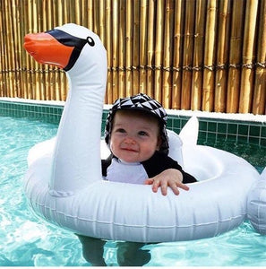 Inflatable Flamingo for Babies Trend Ninja White