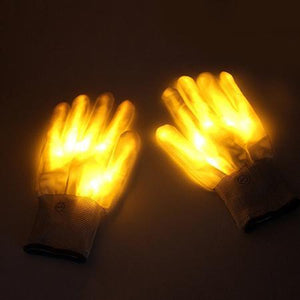 LED Rave Glove Trend Ninja Yellow