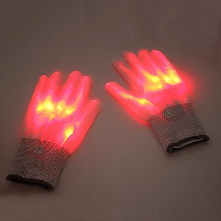 LED Rave Glove Trend Ninja Red