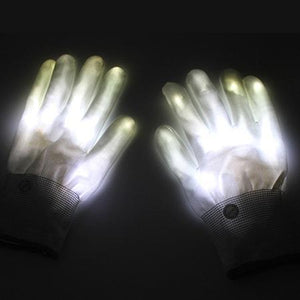 LED Rave Glove Trend Ninja White