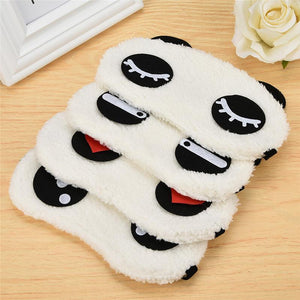 White Panda Eye Sleep Mask Trend Ninja