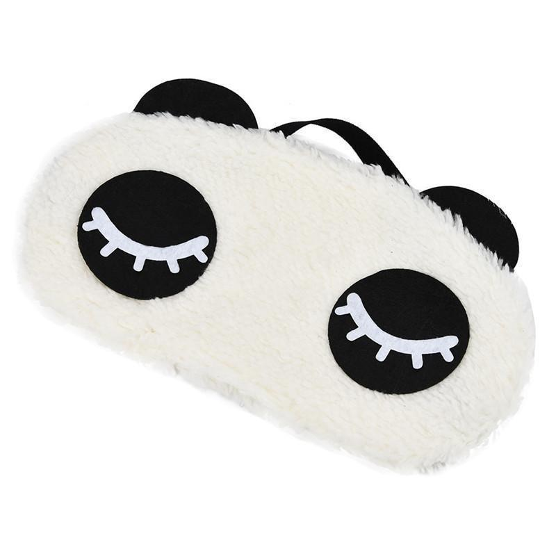White Panda Eye Sleep Mask Trend Ninja Shut Eyes