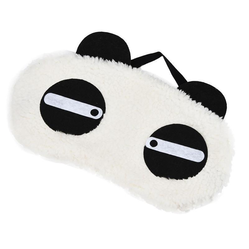 White Panda Eye Sleep Mask Trend Ninja Sleepy Eyes