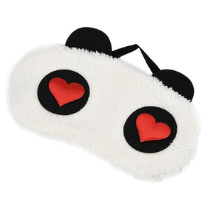 White Panda Eye Sleep Mask Trend Ninja Heart Eyes