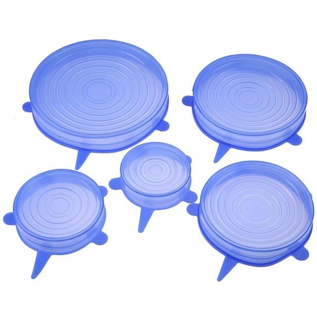 6pcs Silicone Stretch Lid Cover Optimumtrends