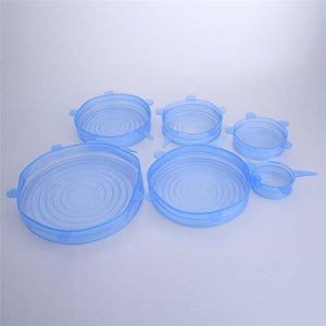 6pcs Silicone Stretch Lid Cover Optimumtrends 6pcs Blue 2