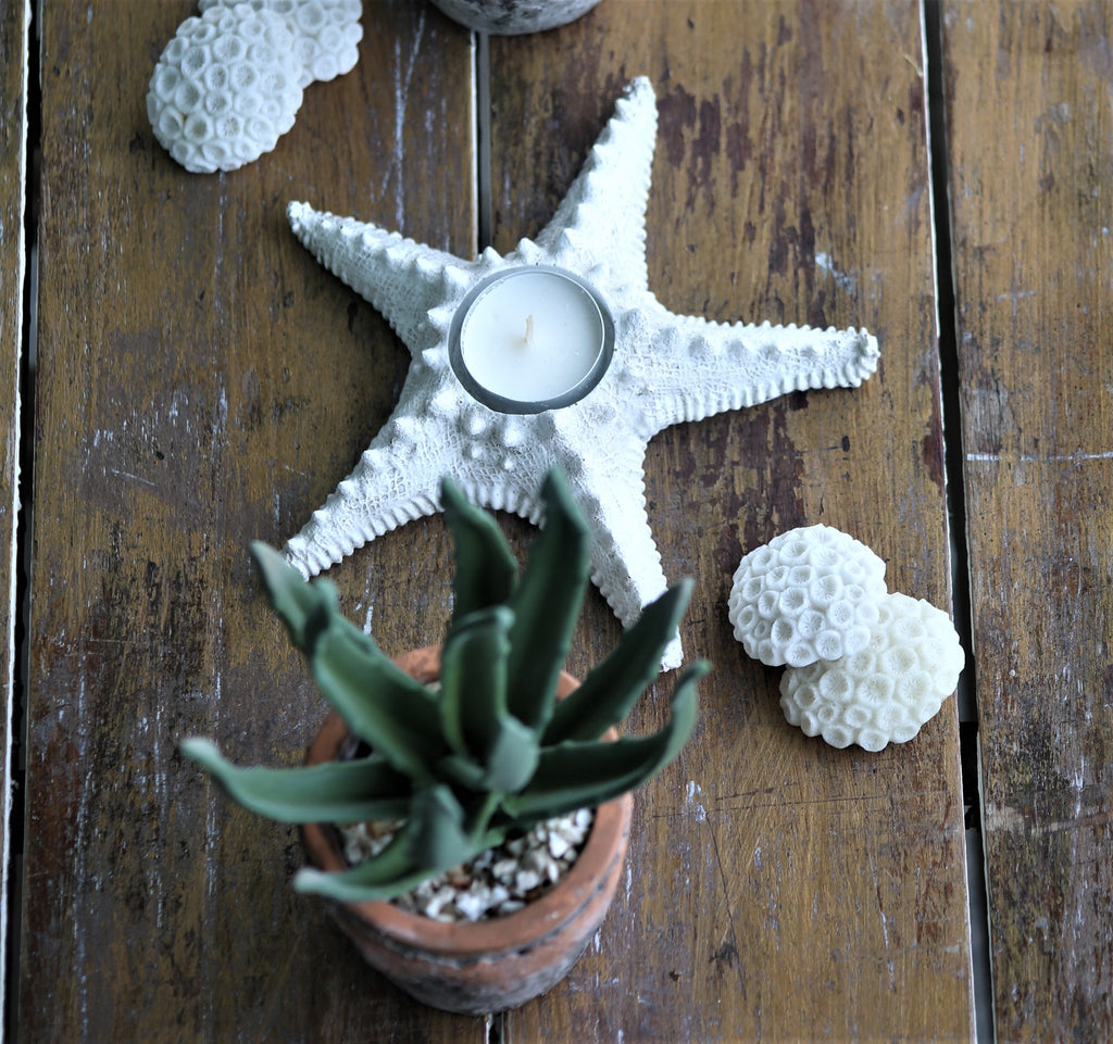 Faux Star Fish tea light holder