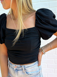 uptown girl romper in black