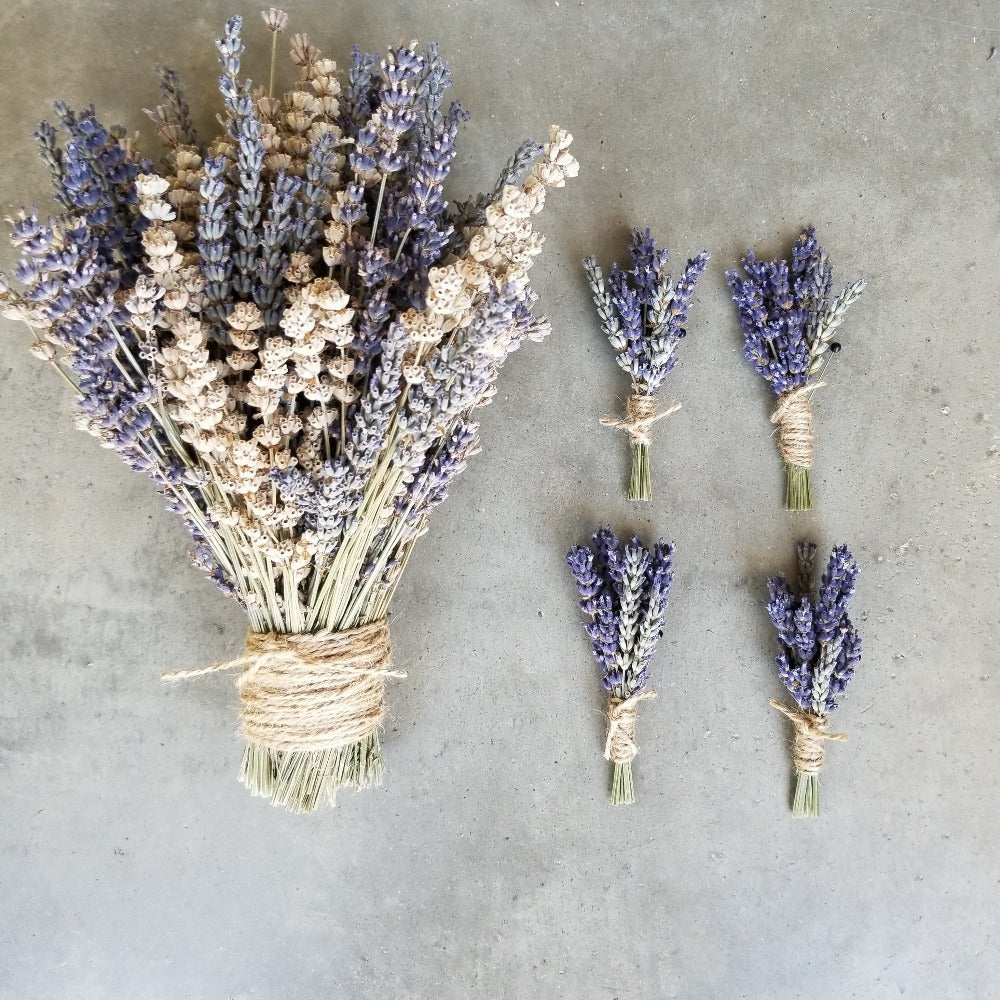 Lavender Bridal Bouquet (Dried)