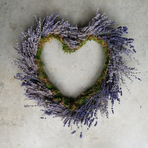 Lavender Wreath Heart Shaped