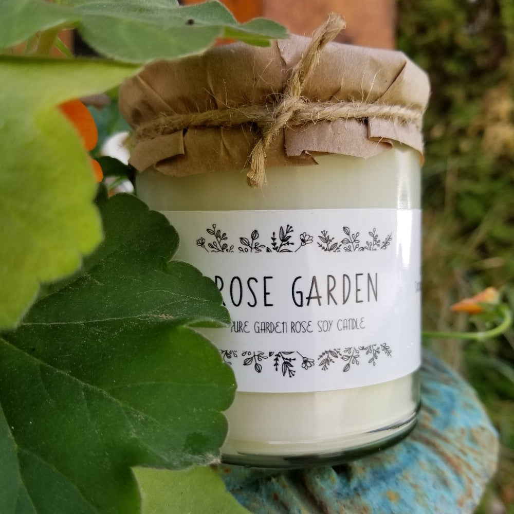 Soy Candle Rose Garden
