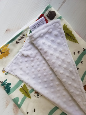 Baby Blanket with Organic Cotton- Camping