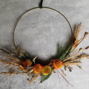 Brass Hoop Wreath Autumn