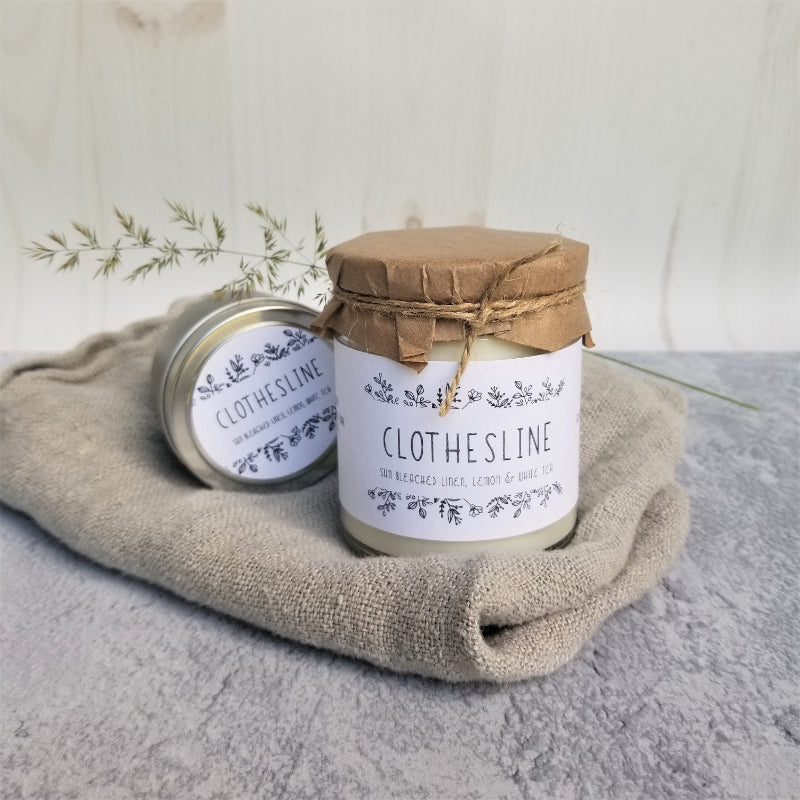 Soy Candle Clothesline