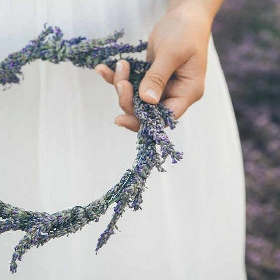 Dried Lavender Flower Halo