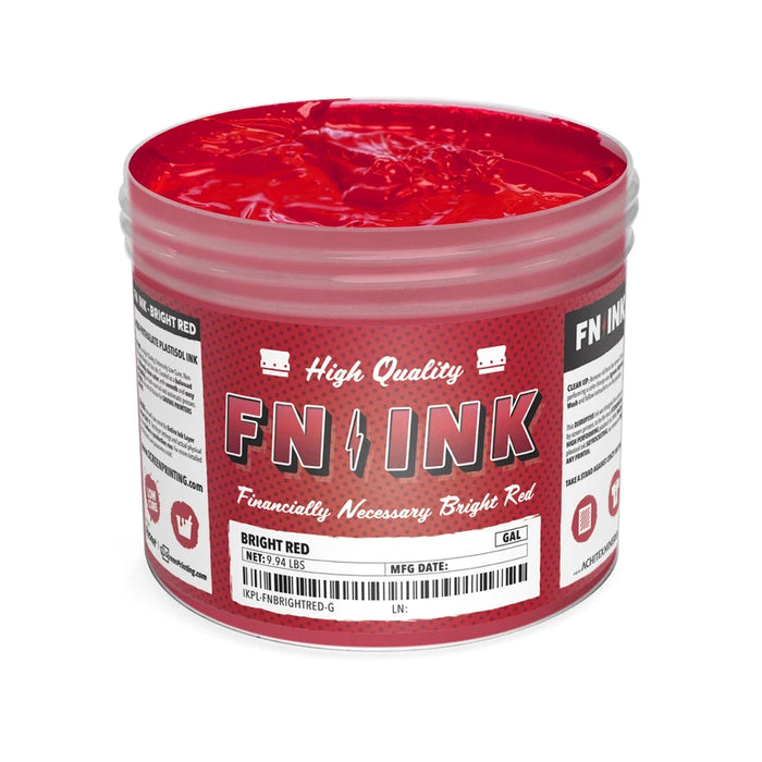 FN-INK Bright Red Plastisol Ink