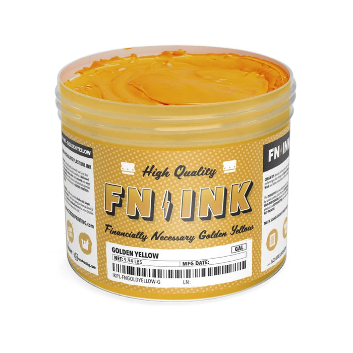 FN-INK Golden Yellow Plastisol Ink